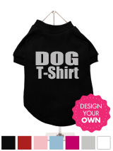 Dog T-Shirt - A fun, funky and distinct dog t-shirt. Made from high quality, fine knit gauge, 100% cotton and features a velvety-feel cotton-flock ''xxxDesignxxx'' design.