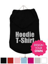 A fun, funky and distinct dog tank t-shirt with hood. Made from high quality, fine knit gauge, 100% cotton and features a velvelty-feel cotton-flock design.