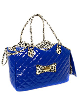 Patent Blue Pet Carrier - A pet carrier and fashion statement all rolled into one! Our Patent Blue Pet Carrier is especially designed to help you look fabulous and make your pet's journey as comfortable and as safe as possible. It has two mesh windows at either end of the bag to provide ventilation and make it possible for y...