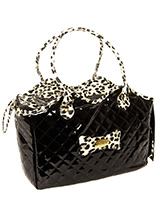 Patent Black Pet Carrier - A pet carrier and fashion statement all rolled into one! Our Patent Black Pet Carrier is especially designed to help you look fabulous and make your pet's journey as comfortable and as safe as possible. It has two mesh windows at either end of the bag to provide ventilation and make it possible for...