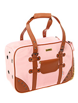 Pretty in Pink Pet Satchel - Especially designed to help you look fabulous and make your pet's journey as comfortable and as safe as possible. It has two air holes front and rear of the bag and a mesh window with roll down flap at one end to provide ventilation and make it possible for your pet to take in the view during your o...