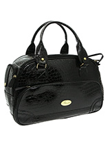 Black Croc Pet Carrier - One of our favourite and exotic pet carriers! The Black Crocodile Carrier is especially designed to help you look fabulous and make your pet's journey as comfortable and as safe as possible. It also has dual zipper tabs that make it easy to open and close. The interior is lined with animal print mat...