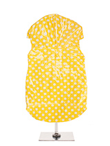 Yellow Polka Dot PVC Waterproof Raincoat - Our design team did not have to look far for inspiration before they came up with this 1960's inspired high gloss Polka dot raincoat. A walk around Carnaby Street inspired us to produce this rainy day essential available in four colour popping styles. This an authentic retro style that will add a cu...
