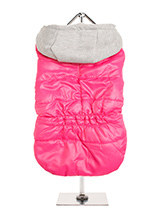 Hot Pink Bodywarmer with Cotton Hood - This Hot Pink Bodywarmer with Cotton Hood is another new colour hot colour for this season. It has a contrasting grey hood and is just the thing for those cold days and colder nights. Fleece lined to keep your pup snug and warm. Four poppers on the underbelly allow for fast and easy closure and make...