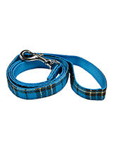 Blue Tartan Fabric Lead - Here at Urban Pup our design team understands that everyone likes a coordinated look. So we added a Blue Tartan Fabric Lead to match our Blue Tartan Harness, Bandana and collar. This lead is lightweight and incredibly strong.