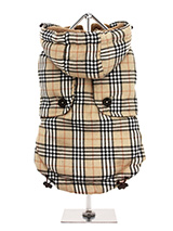 Brown Checked Tartan Quilted Coat - This is a first in a range of coats that pay homage to those great British designers who have led the way with floral, stripped and checked patterns making them more popular than ever. This multi layered coat will keep the heat in and the cold out come what may and the colour will brighten up even t...