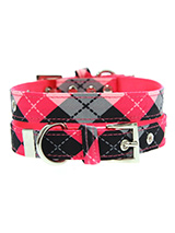 Pink Argyle Collar - Our Pink Argyle Collar is a traditional Scottish design which represents the Clan Campbell of Argyll in western Scotland. It is stylish, classy and never goes out of fashion. Used for kilts and plaids, and for the patterned socks worn by Scottish Highlanders since at least the 17th century. It is li...