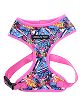Pink Grafitti Harness - Our Pink Graffiti Harness is a street art inspired design, move over Banksy! It is lightweight and incredibly strong. designed by Urban Pup to provide the ultimate in comfort and safety. It features a breathable material for maximum air circulation that helps prevent your dog overheating and is held...