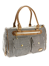 London Pet Carrier - We bring you the London classic candy striped Pet Carrier with modern flair. Designer fabrics and trims combine to create a chic carrier fit to show off your pet while complementing your wardrobe. Unlike other bags, the London Pet Carrier is specifically designed to make your pet's journey as comfor...