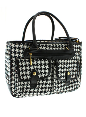 Houndstooth Pet Carrier