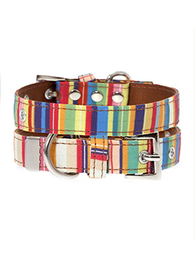 Henley Striped Fabric Collar