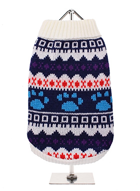 White Fair Isle Vintage Sweater
