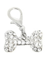 Swarovski Bone Dog Collar Charm (Clear Crystals)