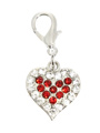 Swarovski Heart Dog Collar Charm