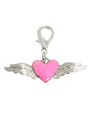 Angel Wings / Heart Dog Collar Charm