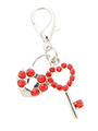 Swarovski Lock & Key Heart Dog Collar Charm