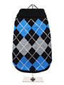 Black & Blue Argyle Sweater