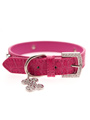 Bruiser's Legally Blonde Pink Leather Diamante Collar / Diamante Bone Charm & Lead Set