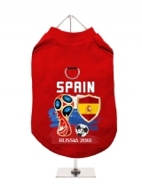 ''World Cup 2018: Spain'' Harness-Lined Dog T-Shirt
