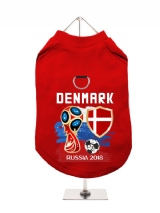 ''World Cup 2018: Denmark'' Harness-Lined Dog T-Shirt