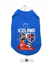 ''World Cup 2018: Iceland'' Harness-Lined Dog T-Shirt
