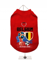 ''World Cup 2018: Belgium'' Harness-Lined Dog T-Shirt