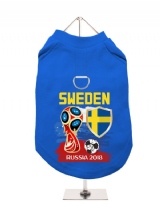 ''World Cup 2018: Sweden'' Harness-Lined Dog T-Shirt