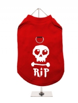 ''Halloween: Skull R.I.P.'' Harness-Lined Dog T-Shirt